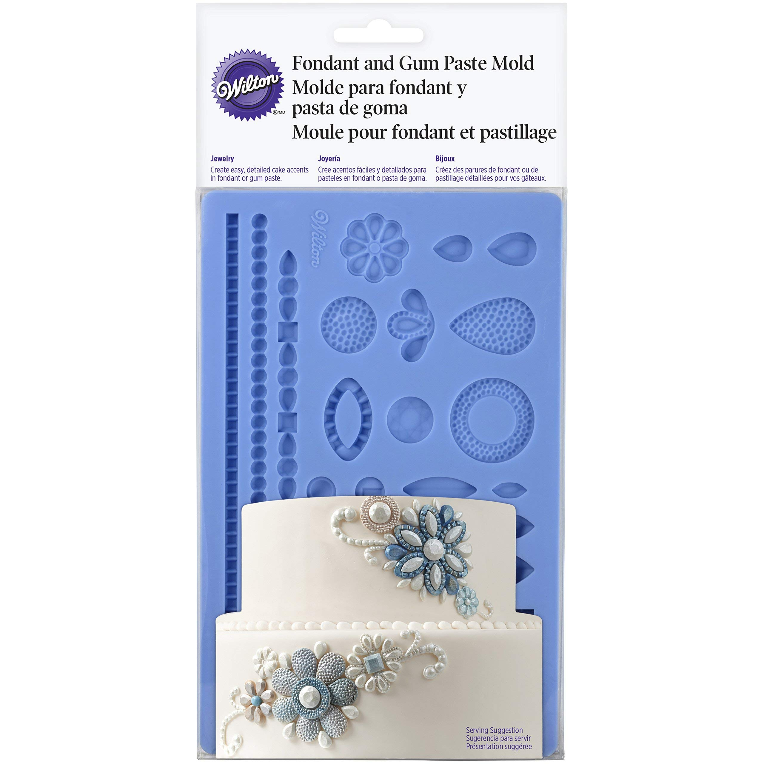 Wilton 409-2528 Wedding Jewelry Fondant Mold, Blue by Wilton