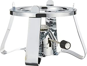 Bodum K11423-16聽Pebo Stove with Built-in Gas Reserve Silver Stainless Steel 21.9聽x 21.9聽x 13.3cm