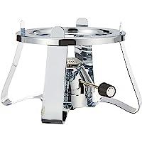 Bodum K11423-16 Pebo Set Gas Burner with Stand, Chrome