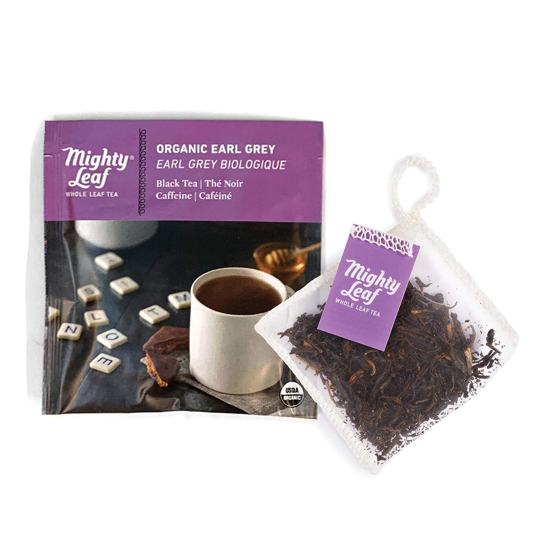 Mighty Leaf Tea Organic Earl Grey Tea Pouches, 100ct Black Tea Bags in Individual Foil Packs, USDA Organic