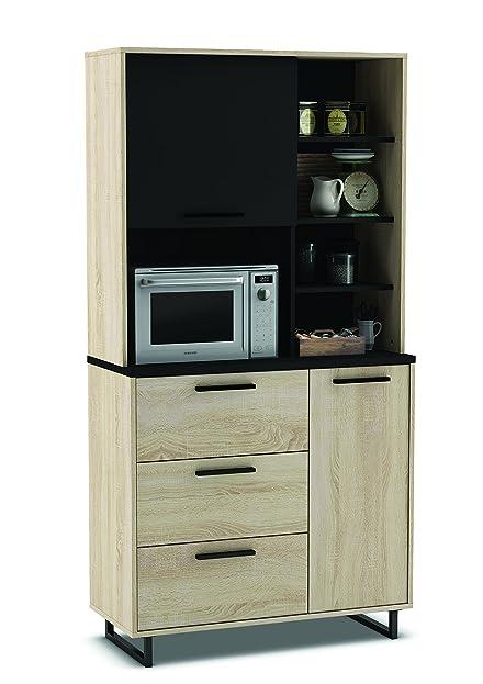 Küchenschrank 933 eiche schwarz schrank küchenregal küchenmöbel