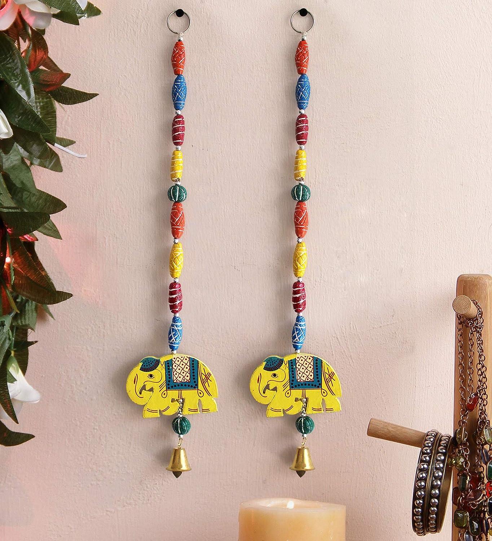 Indian Traditional Hanging Door Hanging Wall Hanging Decorative Hanging Home Decoration Accessories Toran Bandhanwar (18.8 inch X 2.4 inch)
