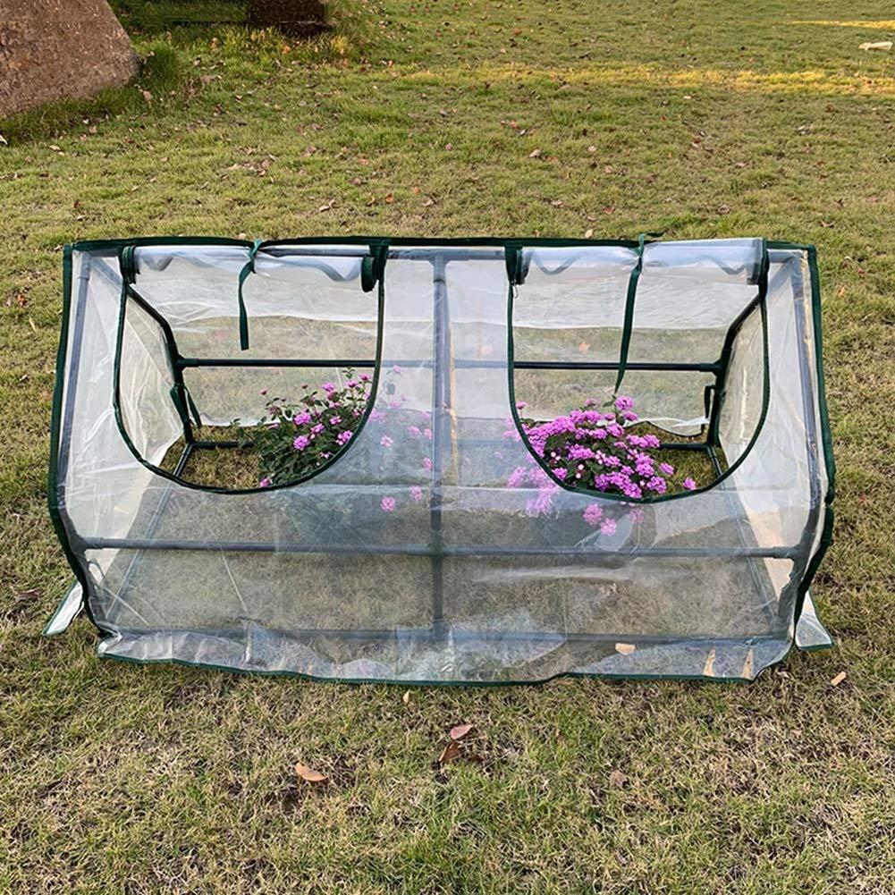 LIANGLIANG- Invernadero de Jardín Planta Exterior Tipo De Túnel Cobertizo Cálido Conservación del Calor Cubierta A Prueba De Lluvia Plástico Jardinería ...