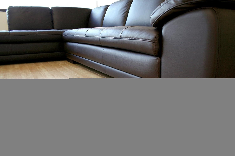 Amazon Baxton Studio Abriana 2 Piece Dark Brown Leather Sofa