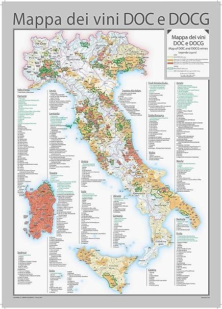 Cartina Italia In Inglese.Italia Doc E Vini Docg Wall Map Carta Inglese E Italiano 71 1 X 99 1 Cm Amazon It Cancelleria E Prodotti Per Ufficio