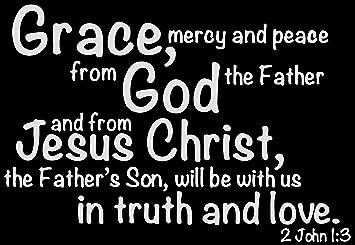 Amazon.com: Omega 2 John 1:3 - Grace, Mercy and Peace from ...