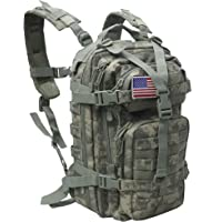 Small 30L Rucksack Military Tactical Backpack Flag Patch Outdoors Bug Out Bag