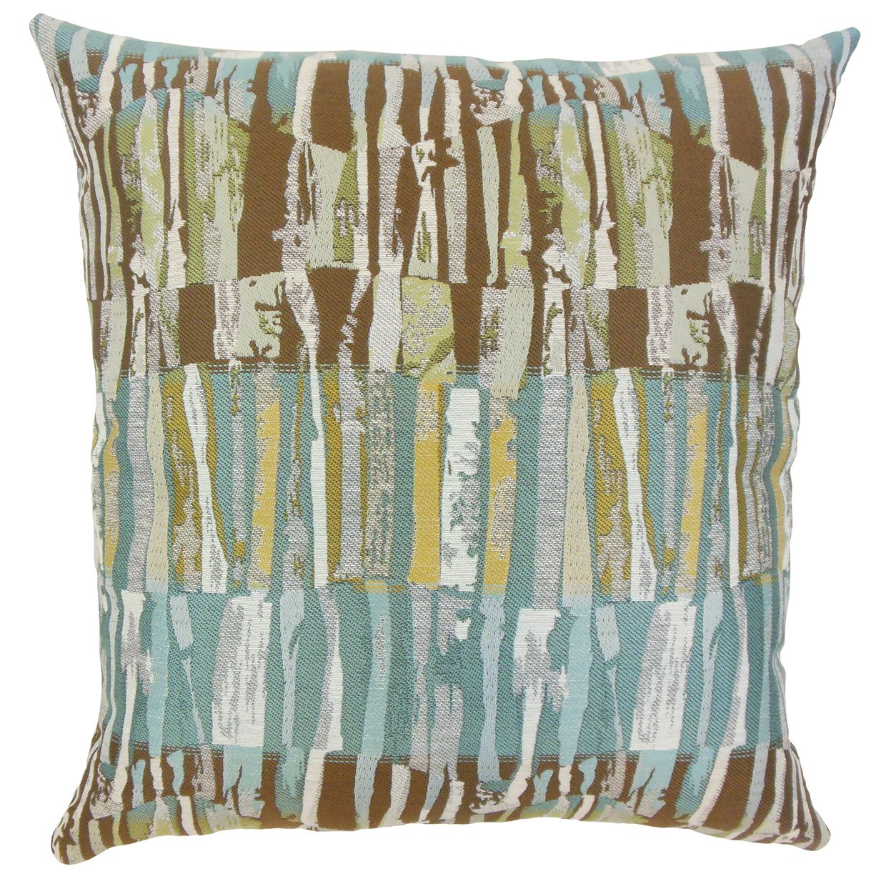 The Pillow Collection Prunella Stripes Bedding Sham Blue Queen//20 x 30