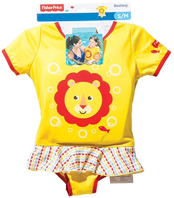 Amazon.com: Fisher-Price Girls Swimming Float Vest Suit (Suitable From 1 year): Toys & Games