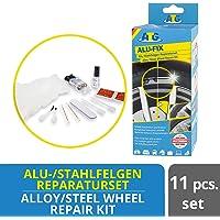 ATG Alu Fix Alloy Wheel Repair Kit, Fix Surface Damage on Alloy and Steel Wheels, 13 Piece   Alloy Wheel Repair   Rim Repair   Wheel Brush  
