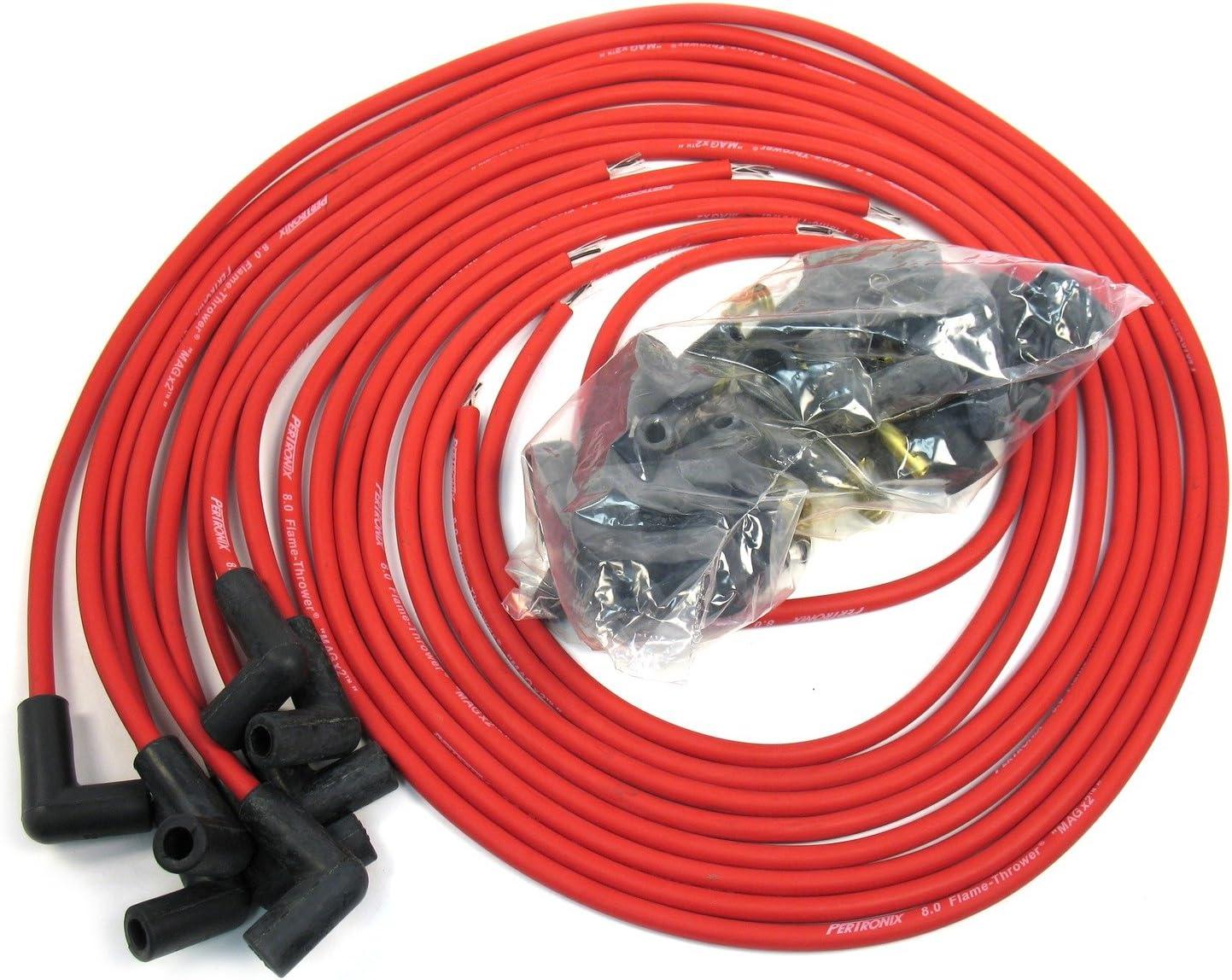 8.5mm Silicone 90*  Core Fiberglass Spark Plug Coil Wire Kit Black H.E.I