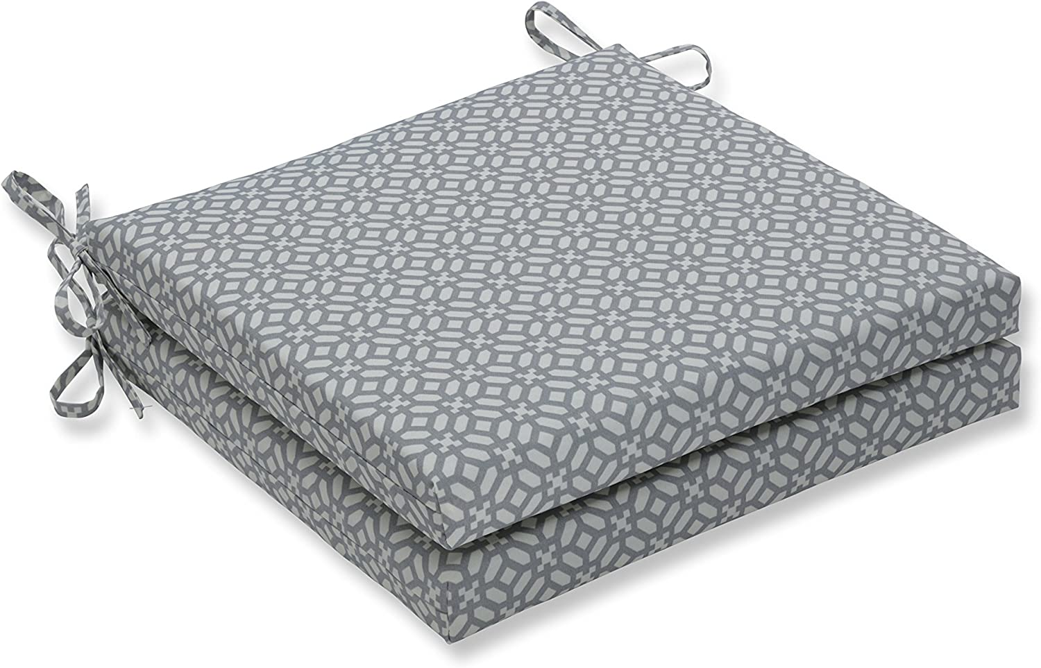 Pillow Perfect Outdoor Indoor In The Frame Pebble Squared Corners Seat Cushion 20x20x3 Set of 2