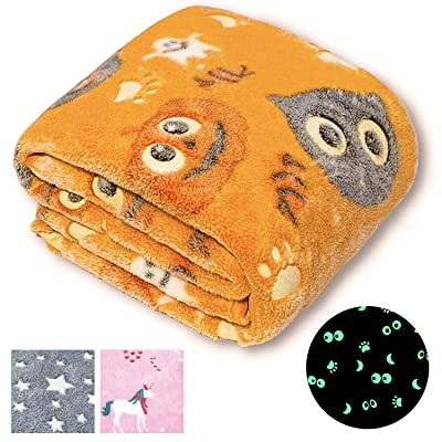 Glow in the dark fuzzy halloween blanket