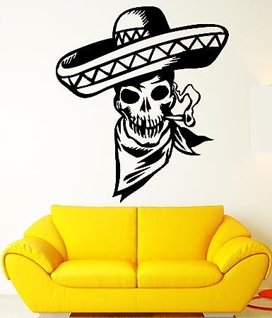 Amazon.com: Cool Mexican Cowboy Skull Smoking Cigar Design Wall ...