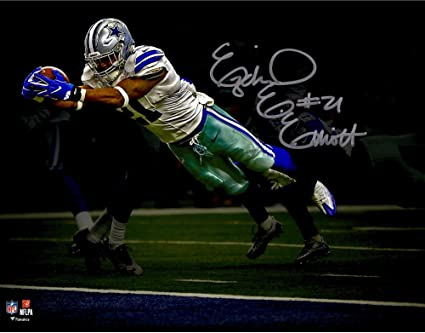 separation shoes ba11d cda7b Ezekiel Elliott Dallas Cowboys Autographed 11