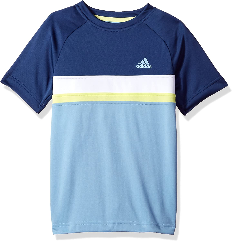 Boys adidas Youth Youth Tennis Boys Club Color Block Tee