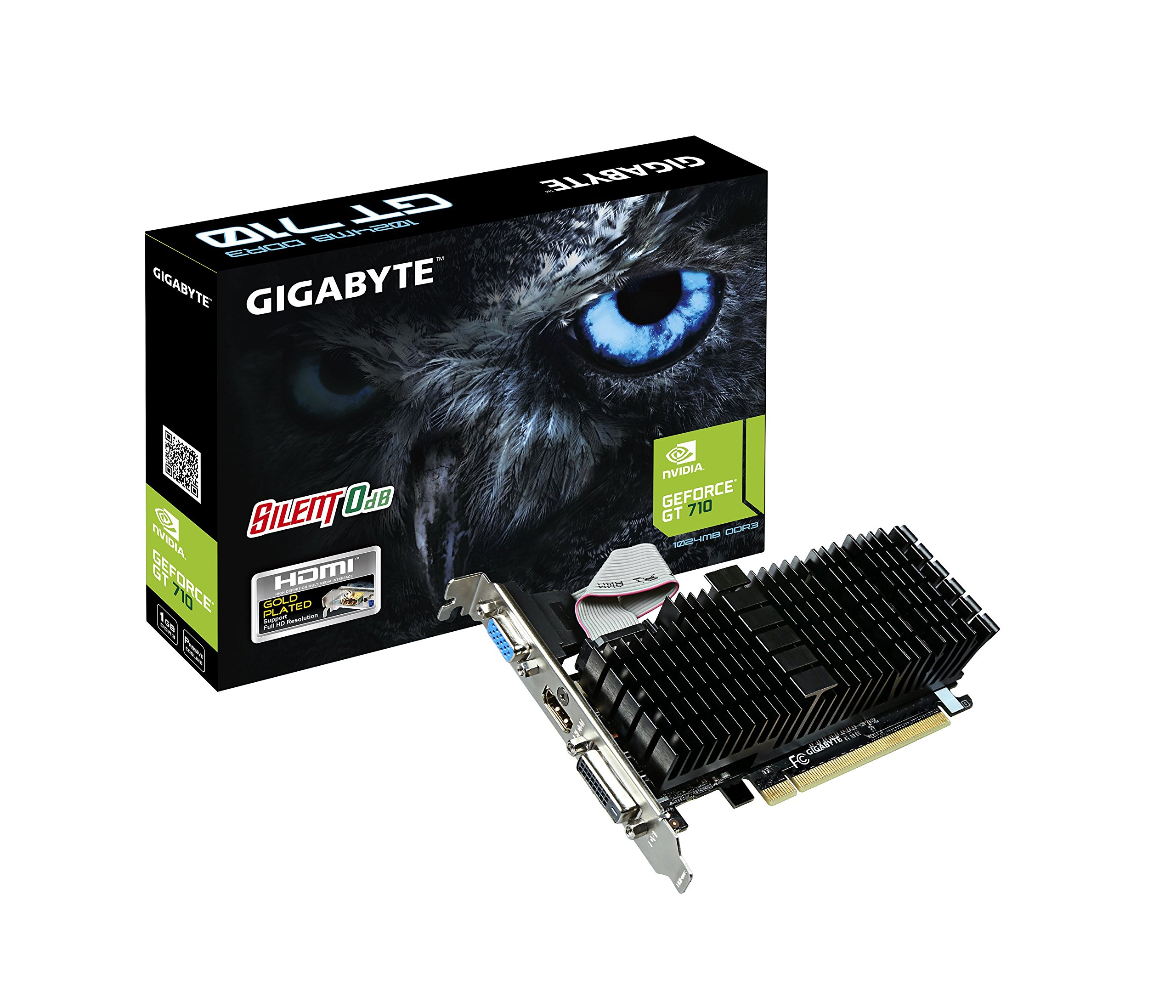 Gigabyte GeForce GT 710 1GB Low Profile GV-N710SL-1GL REV2.0 Graphic Cards by Gigabyte