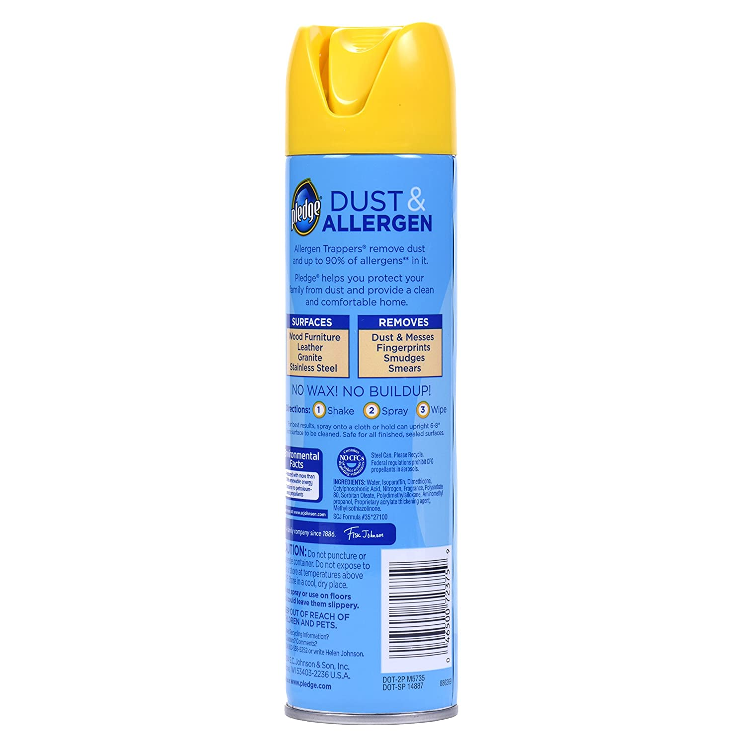 Amazon.com: Pledge Dust And Allergen Furniture Spray 9.7 Ounce (Pack Of 3):  Health U0026 Personal Care