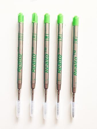 Monteverde Soft-Roll-Kugelschreibermine für Parker Stifte, Stärke M 5 Stück, Grün