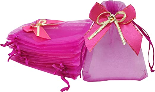 """12 Assorted Organza Pouch 3x4/"""" Jewelry Gift Bags with Satin Ribbon Drawstring"""