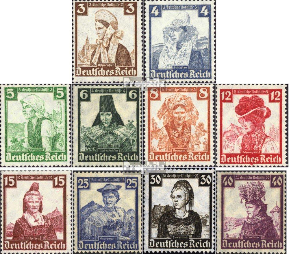 Deutsches Reich 588,590,591,593 1935 Nothilfe:Volkstrachten Briefmarken f/ür Sammler Trachten Uniformen