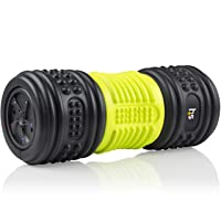 HealthSmart Foam Roller for Exercise and Physical Therapy with Four Speed Vibrations and Deep Tissue Massage, Firm Density