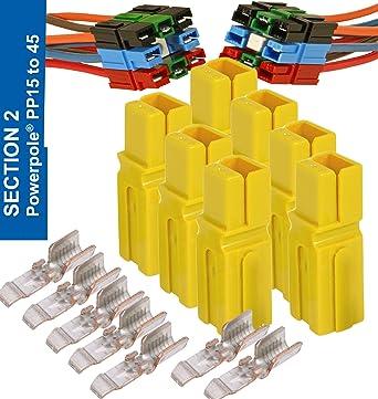 60 Pcs 15//30//45 Amp Anderson Powerpole Connector Assortment Kit Quick Disconnect