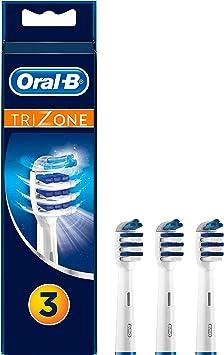 Oral-B TriZone - Cabezal de recambio, para cepillo de dientes eléctrico, 3 unidades: Amazon.es: Salud y cuidado personal