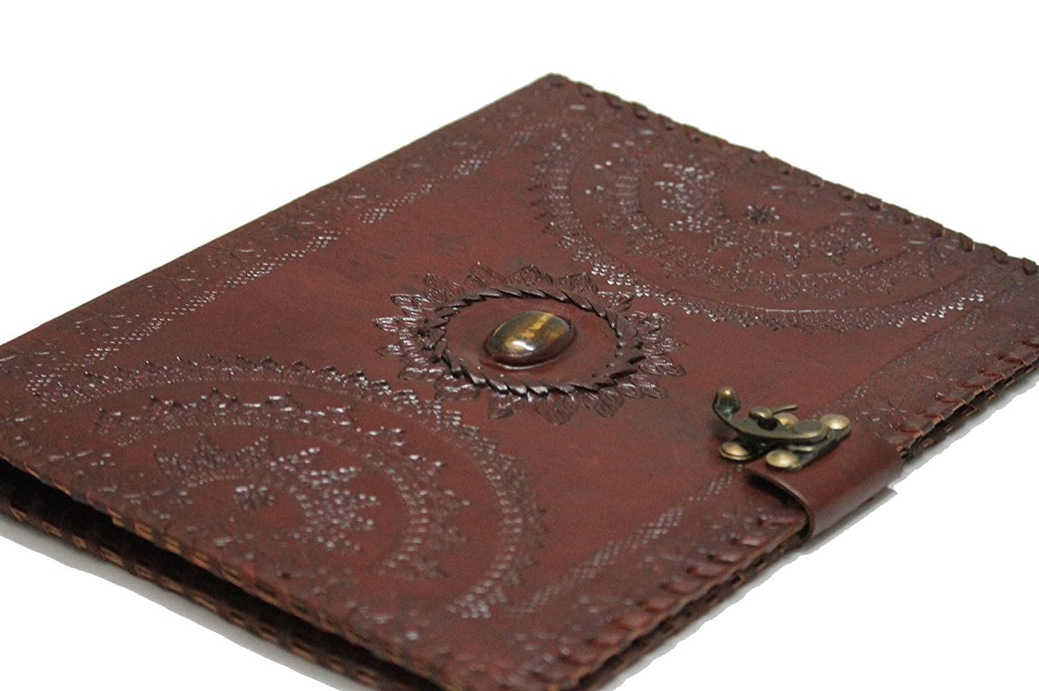 Amazon.com : BLF Vintage Handmade Embossed Leather Portfolio Resume Pad  Folio Cover File Folder Professional Business Organizer Notepad Holder  Perfect ...  Leather Resume Folder
