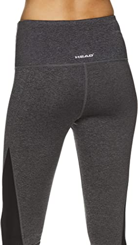 Crop Activewear Gym /& Running Pants HEAD Womens High Waisted Capri Workout Leggings