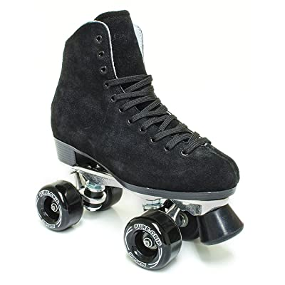Sure-Grip 1300 Black Suede Roller Skates : Sports & Outdoors