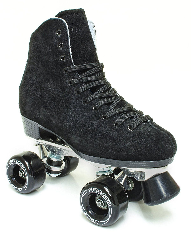 Sure-Grip 1300 Black Suede Roller Skates by Sure-Grip (Image #1)