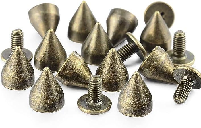 100sets 9*9mm rose gold color double cap rivets metal Spike Stud rivets for Belt