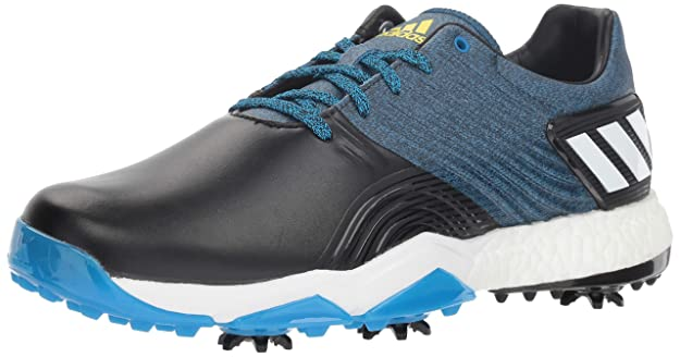 adidas Men's Adipower 4ORGED Golf Shoe, Bright Blue/core Black/Shock Yellow, 7 M US
