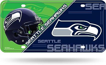 Seahawks Durable Cool Metal License Plate