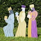 Outdoor Nativity Store Outdoor Nativity Set Add-on - Three Wisemen (Standard, Color)