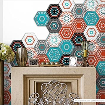 Fantastisch Fliesenaufkleber   Hexagon Fliesensticker Fliesenfolie Designfolie | Fliesen  Aufkleber Sticker Folie Für Küche   Klebefliesen |