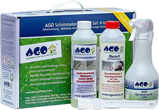 AGO de Moho (4 Piezas). Premium Concentrado para Eliminar Moho en casa y Hogar.: Amazon.es: Hogar