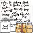 Mega Set 110 Pantry Labels - Preprinted Kitchen Labels Sticker by Talented Kitchen. Cursive Script Design. Clear Water Resistant Food Labels for Pantry Organization and Storage (Set of 110- Cursive)