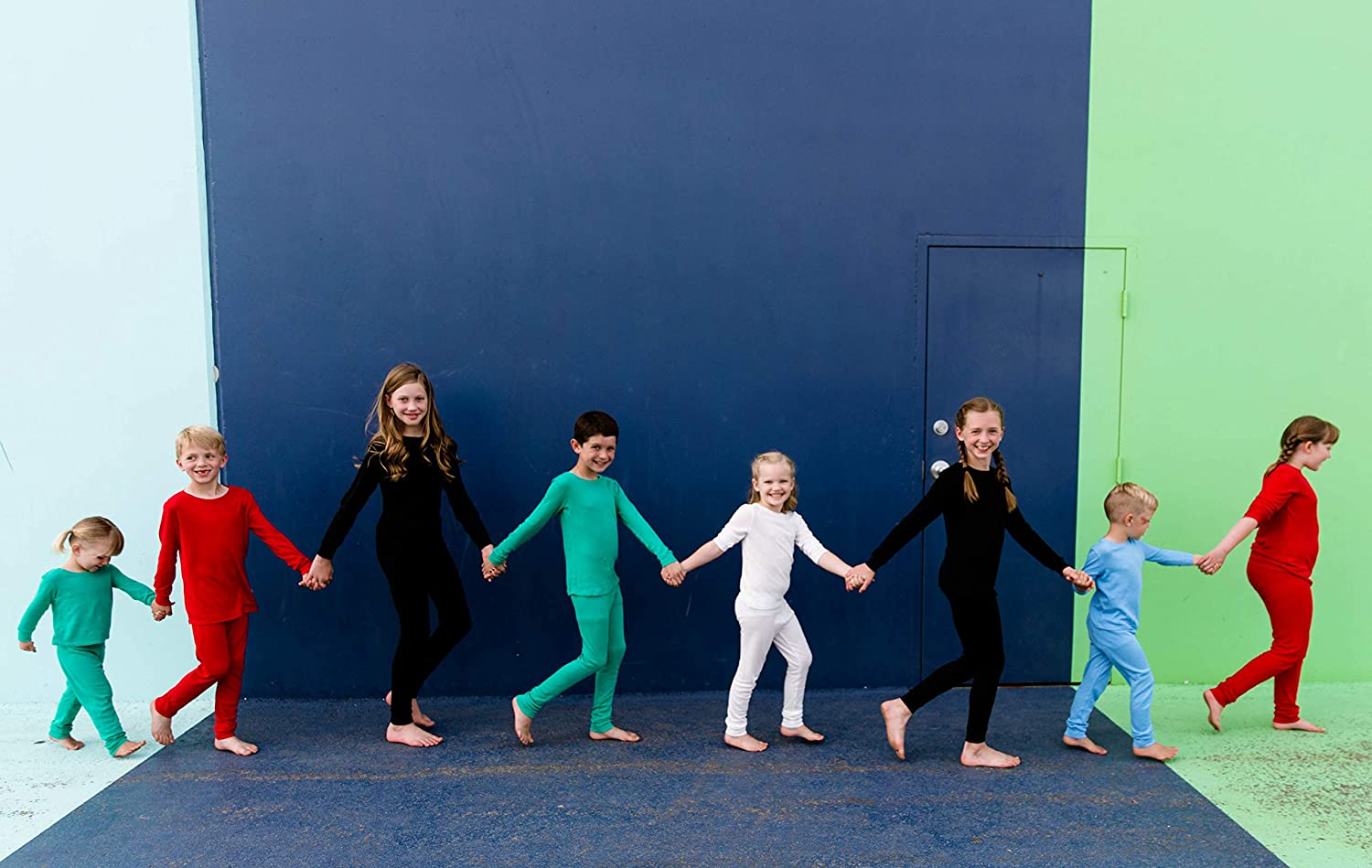 Toddlers and Kids Size 2 to 16 Girls Habit Rags Best Organic Bamboo Cotton Long John Thermal Pajama Set for Big Boys