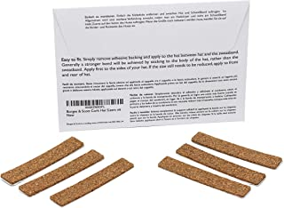 Borges & Scott - Traditional Cork Hat Sizing Strips - Self Adhesive - Set of 6
