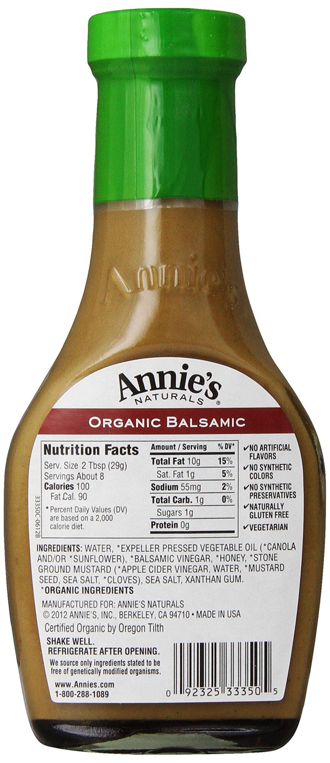 Annie's Organic Gluten Free Balsamic Vinaigrette Dressing 8 fl oz Bottle by Annie's Homegrown (Image #4)
