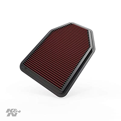 K&N Engine Air Filter: High Performance, Premium, Washable, Replacement Filter: 2007-2020 Jeep Wrangler V6 3.6L, 33-2364: Automotive