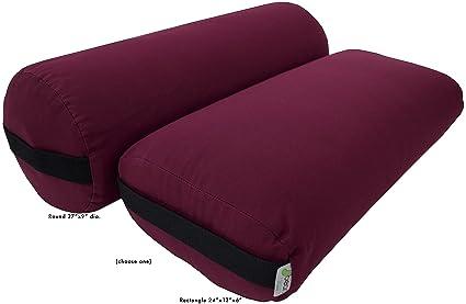 Bean Products Cojines para yoga, cojín rectangular, redondo ...
