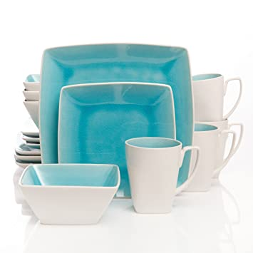 Gibson Elite Urban Luxe 16-Piece Dinnerware Set Turquoise  sc 1 st  Amazon.com & Amazon.com | Gibson Elite Urban Luxe 16-Piece Dinnerware Set ...