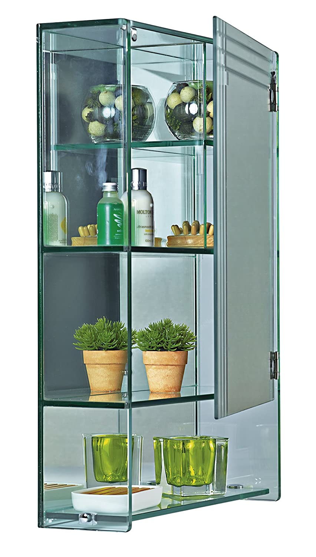 Showerdmarratimo Glass Bathroom Cabinet With Mirrored Door By Amazon Co Uk Kitchen Home
