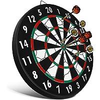 GHB Professional Dartscheibe Dartboard Dartscheibe Durchmesser für Kinder Erwachsene Freizeit Sport für Büro und Familie Zeit MEHRWEG