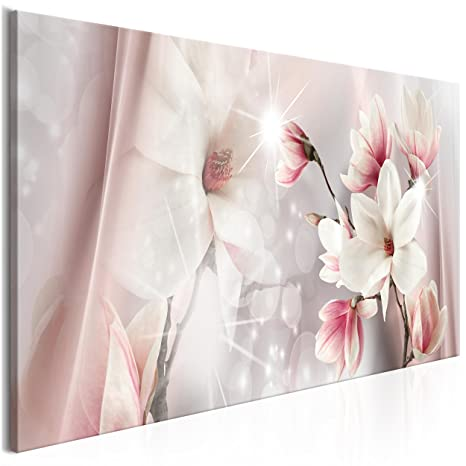 Magnolie Blumen Natur Bild Bilder Leinwand Wandbild Kunstdruck