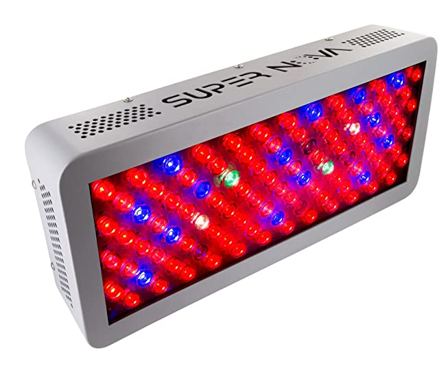 Professional LED Grow Light - SuperNova SN300 Full Spectrum 300w Grow Lamp - Highest PAR Output Guaranteed. Best 12 Band For Indoor Plant Garden - 5 Year Warranty