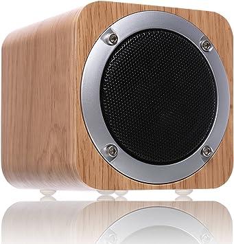 Parlante Bluetooth de madera, tkstar Parlante Bluetooth 4.0 Inalámbrico con Driver de 70mm, Parlante para Computadora con potentes graves incluidos JU-IXB06 (Arce blanco): Amazon.es: Electrónica